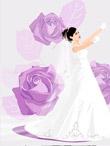 韩国矢量婚纱美女