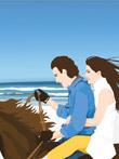 骑马的情侣