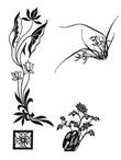 古典图案-兰花