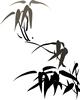 水墨画-竹子图