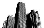 矢量城市高楼大厦