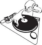 矢量DJ人物插画