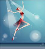 矢量芭蕾少女1