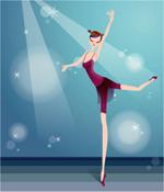 矢量芭蕾少女2