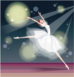 矢量芭蕾少女3