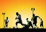 矢量踢足球的运动