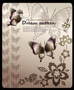 花纹与蝴蝶图案