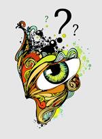抽象眼睛插画