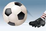 矢量踢足球