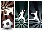 足球运动人物剪影