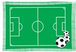矢量足球场平面图
