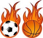 火焰足球与篮球