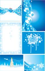 蓝色冬季矢量