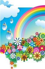 缤纷花朵彩虹