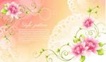 梦幻背景与花朵