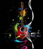 潮流吉他插画