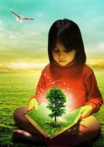 看书的女孩