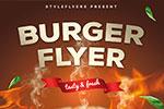 汉堡包宣传海报