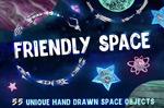手绘太空主题