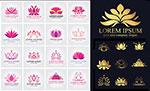 花边莲花图案标志