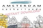 荷兰运河屋插图