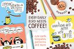 手绘卡通咖啡插图