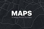 城市街道地图矢量