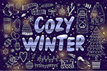 卡通冬季系列插图