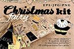 手绘童话圣诞节