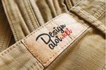 牛仔裤商标样机