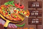 披萨海报传单
