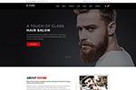 美发类网站模板