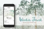冬季森林广告图