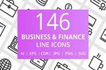 商业及金融线图标