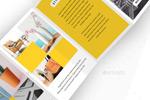 多彩折页设计模板