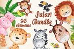 水彩野生动物插画