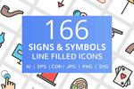 166个符号图标