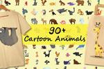 卡通野生海洋动物