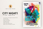 酷炫城市之夜海报