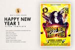 夜店新年海报