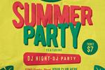 夏季派对矢量海报