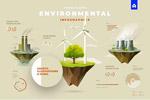 环境信息图表插画