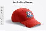 棒球帽图案样机