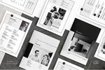 黑白风格画册模板