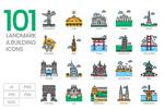 旅游地标元素图标