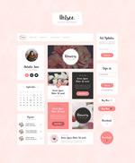 粉色系网页模板