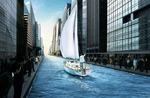 城市中的帆船