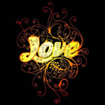LOVE花纹