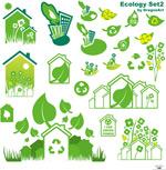 矢量绿色环保主题