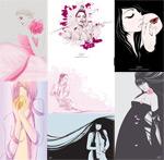 外国女性插画